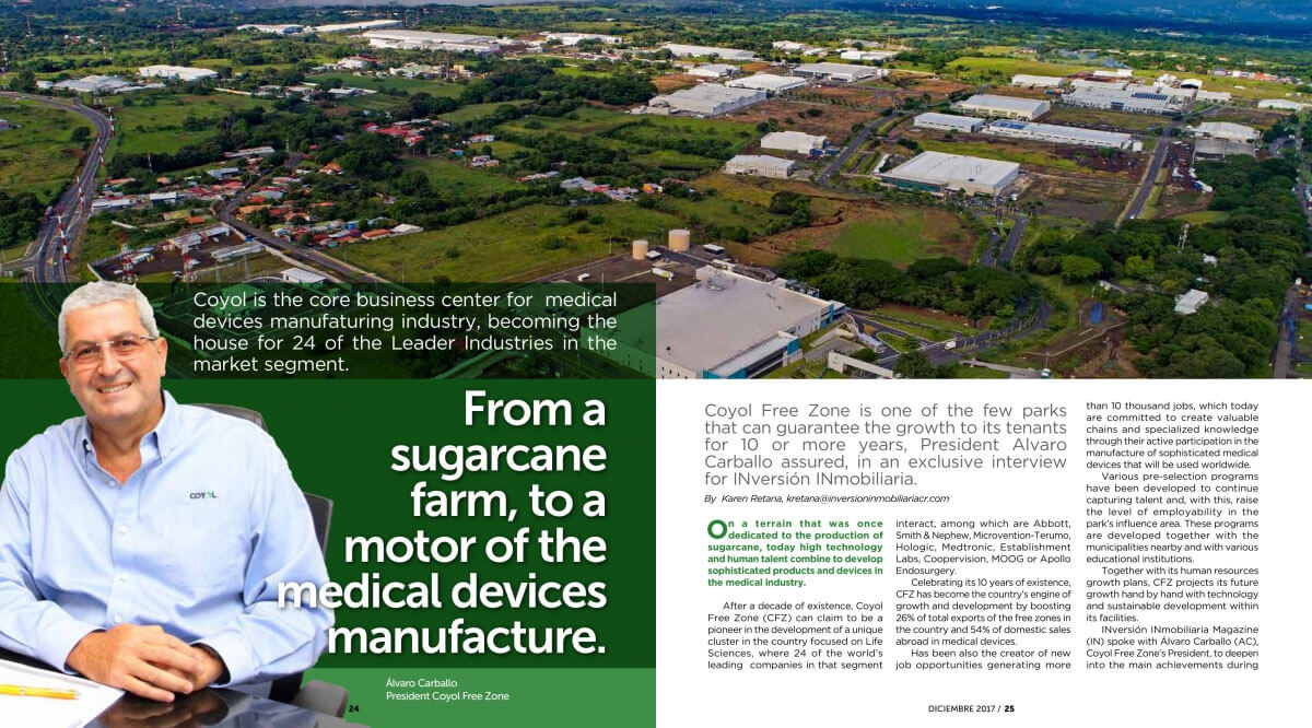 From a sugarcane farm to Medical Devices manufacture