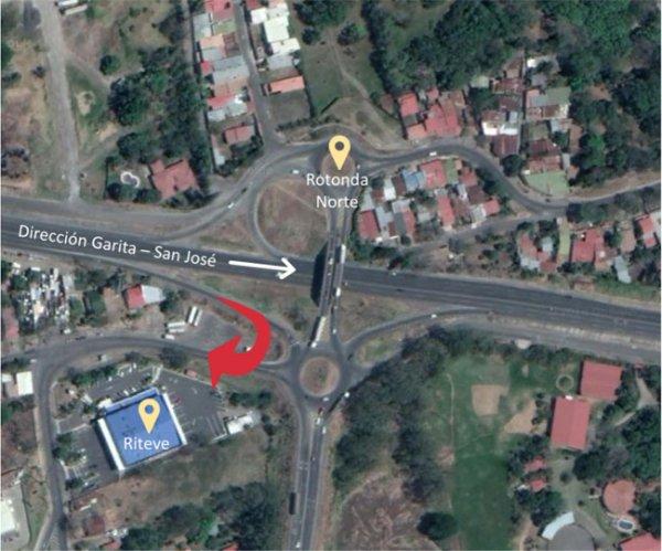 Arreglos para mejorar acceso a el Coyol. Giro desde la autopista Bernardo Soto hacia RTV